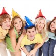 Group of young in party hat. — Stock Photo #6725074