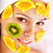 Homemade fruit facial masks . — Stock Photo #6725631