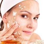 Natural homemade organic facial masks of honey. — Stock Photo #6725633