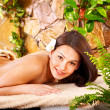 Young woman getting massage in spa. — Stock Photo #6725635