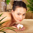 Young woman getting massage in spa. — Stock Photo #6725636