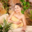 Young woman getting massage in spa. — Stock Photo #6725638