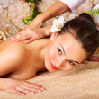 Young woman getting massage in spa. — Stock Photo #6725639