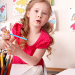 Child with colorful pencil . — Stock Photo #6725667