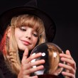 Child holding crystal ball. — Stock Photo #6725873