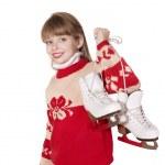Child holding figure skates. — Stock Photo #6725915