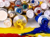 Close up of art supplies. — Stock Photo