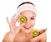 Natural homemade fruit facial masks . — Fotografia Stock