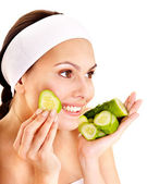 Natural homemade vegetables facial masks . — Stock Photo