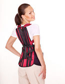 Trauma of back. Corset for posture. — Stock Photo
