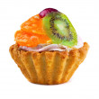 Fruit cupcake — Stock Photo