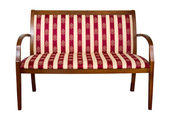 Wooden couch — Stock Photo