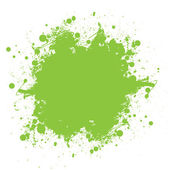 Green ink splatter — Stock Vector
