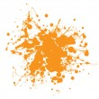 Orange ink splat - Stock Vector