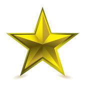 Gold star award — Stock Vector
