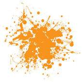 Orange ink splat — Stock Vector