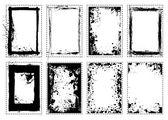 Frame de retrato de grunge splat — Vetor de Stock