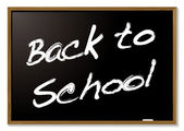 Back to school blackboard — Stock Vector