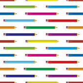 Kleur potlood achtergrond — Stockvector