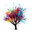 Paint splat tree — Stock Vector