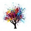 Paint splat tree - Stock Vector