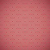Retro seventies red pattern — Stock Vector