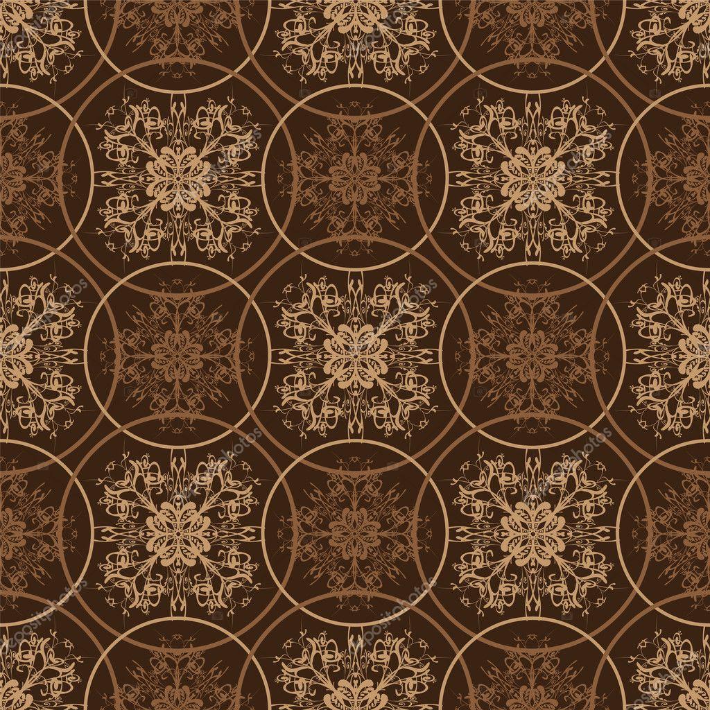 vintage floral brown css html retro brown floral pattern stock vector 169 nicemonkey