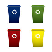 Plastic recycle trash can — Stock Vector