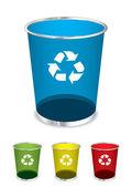 Trash recycle bin — Stock Vector