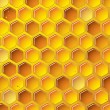 Stock Vector: Honeycomb background concept