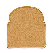 Slice of toast — Stock Vector