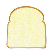 Slice of white bread — Stock Vector