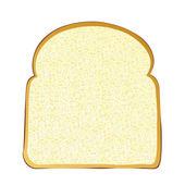 Slice of white bread — Stock Vector