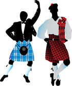 Silhouettes of the Scots — Stock Vector