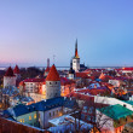 Old town of Tallinn Estonia — Stock Photo