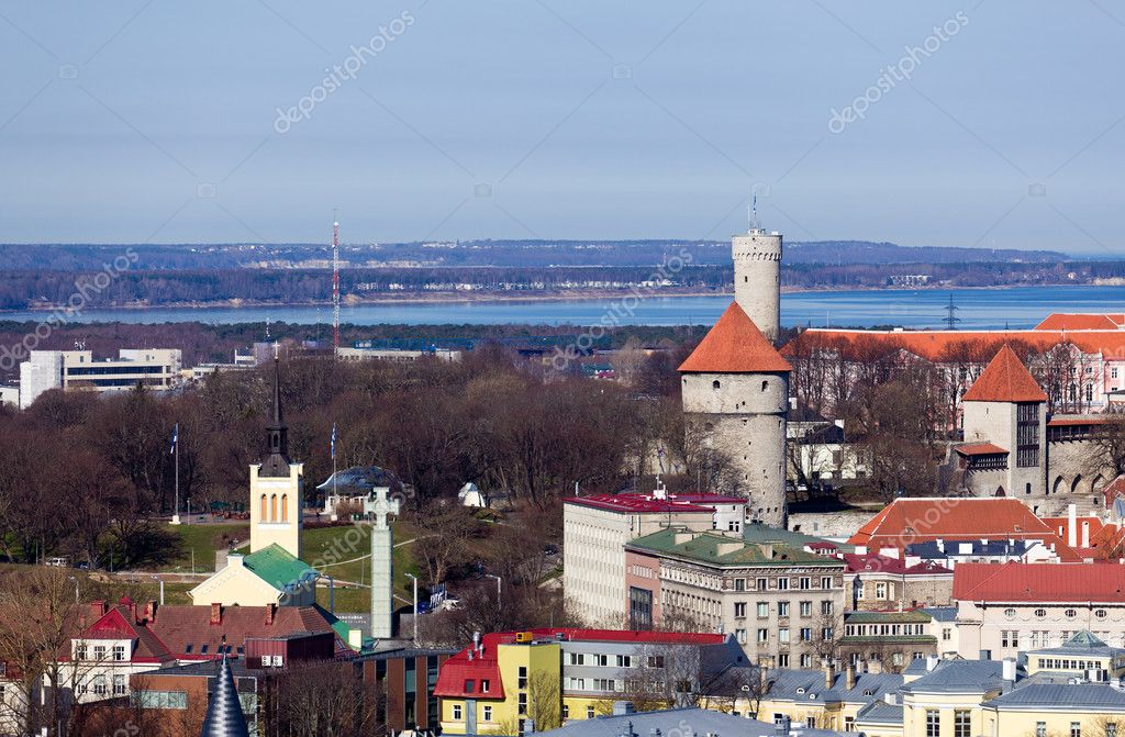 altstadt von tallinn estland stockfoto steveheap 5585834. Black Bedroom Furniture Sets. Home Design Ideas