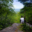 Hiker overlooks Shenandoah Valley — Stock Photo