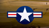Airforce symbol on fighter — Stock Photo