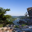Hiker overlook Harpers Ferry landscape — Stock Photo