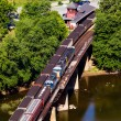 Stockfoto: Aerial view Harpers Ferry rail station