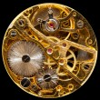 Interior of antique hand wown watch — Stock Photo