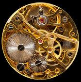 アンティーク手 wown 時計の内部 — ストック写真
