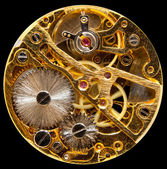 Interior of antique hand wown watch — 图库照片