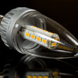 Foto Stock: Modern LED candle bulb