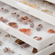 Drawers of jewelery findings — Stockfoto