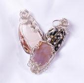 Hand made stone pendants — Stock Photo