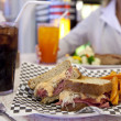 Diner-style Reuben sandwich - Stock Photo