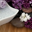 Lilacs and bath salt - Stock Photo