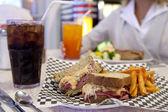 Diner-style Reuben sandwich — Stock Photo