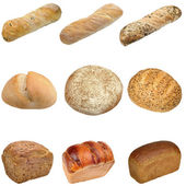 Different types of bread — Stock Photo